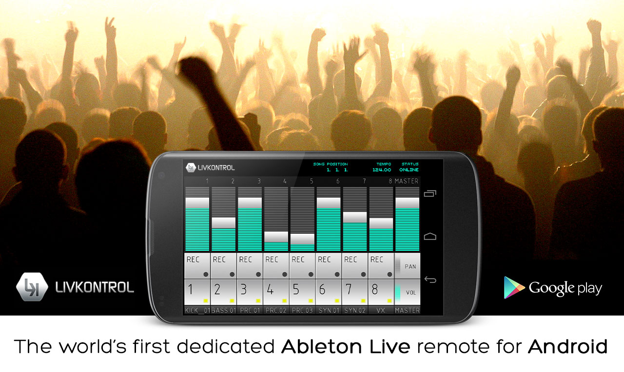 LIVKONTROL - Control Ableton Live With Your Android Device