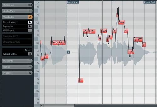 cubase 5 vocal editing services