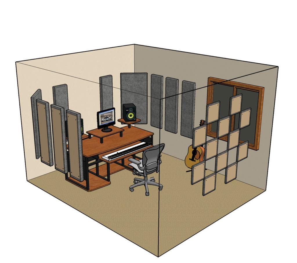Superb Diy Studio Acoustics Tutorial Musictech Musictech Net Largest Home Design Picture Inspirations Pitcheantrous