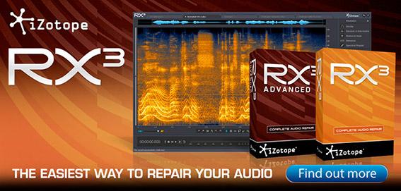 iZotope Announce RX 3 - MusicTech