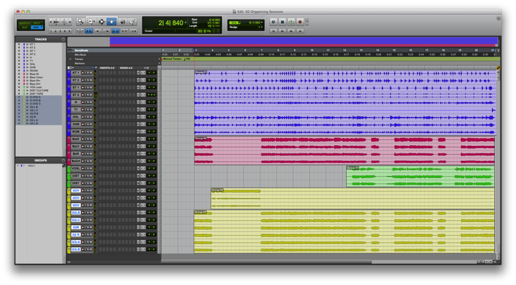 Pro Tools Tutorial: Become a Power User Part 2 - Organising Your ...
