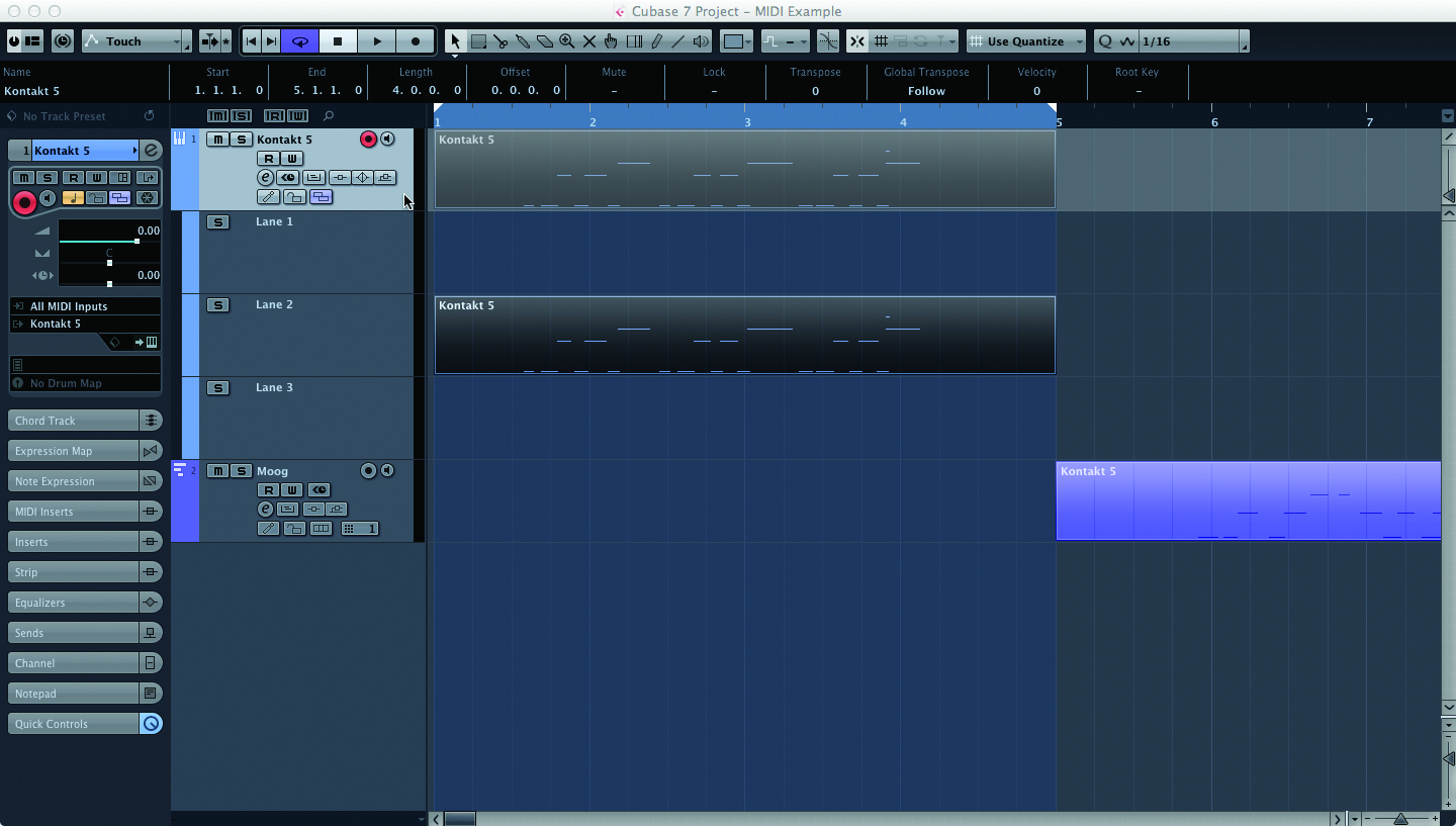cubase tutorial become a power user part 3 creating and editing midi musictech. Black Bedroom Furniture Sets. Home Design Ideas