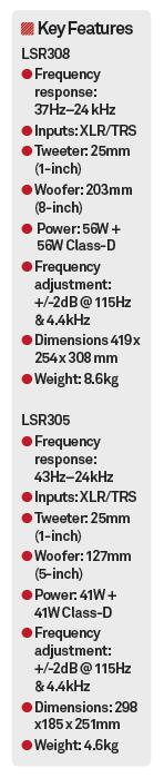 JBL LSR308 & LSR305 Review - MusicTech