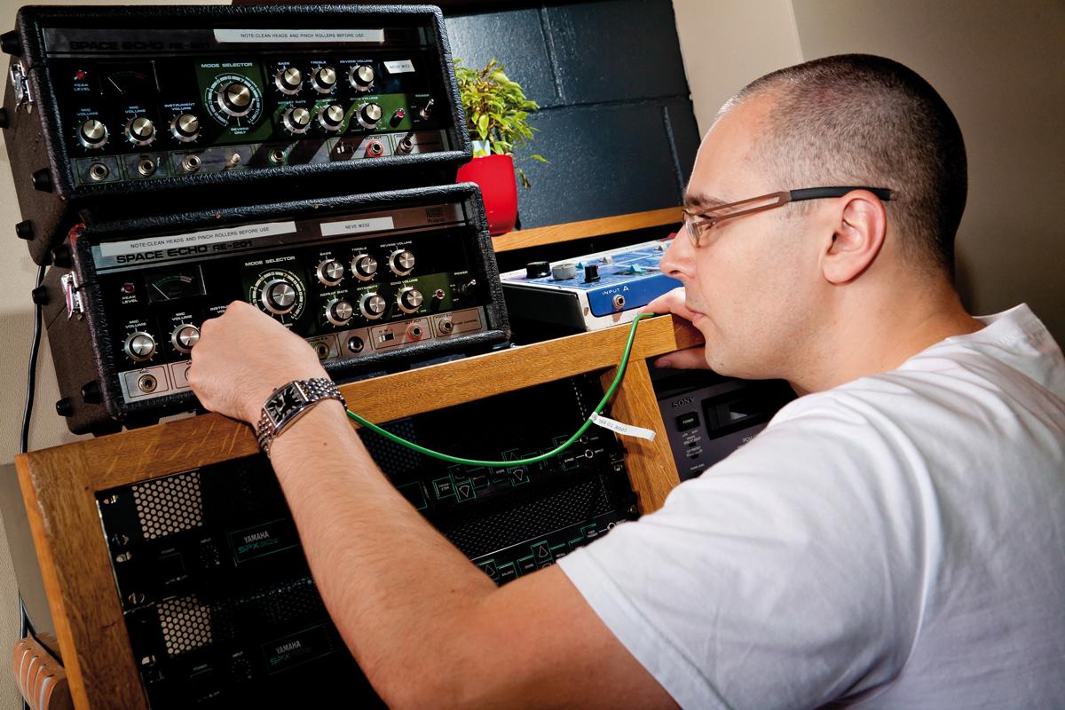 Blame in session at Miloco Studios, London. 29 Sept 2010