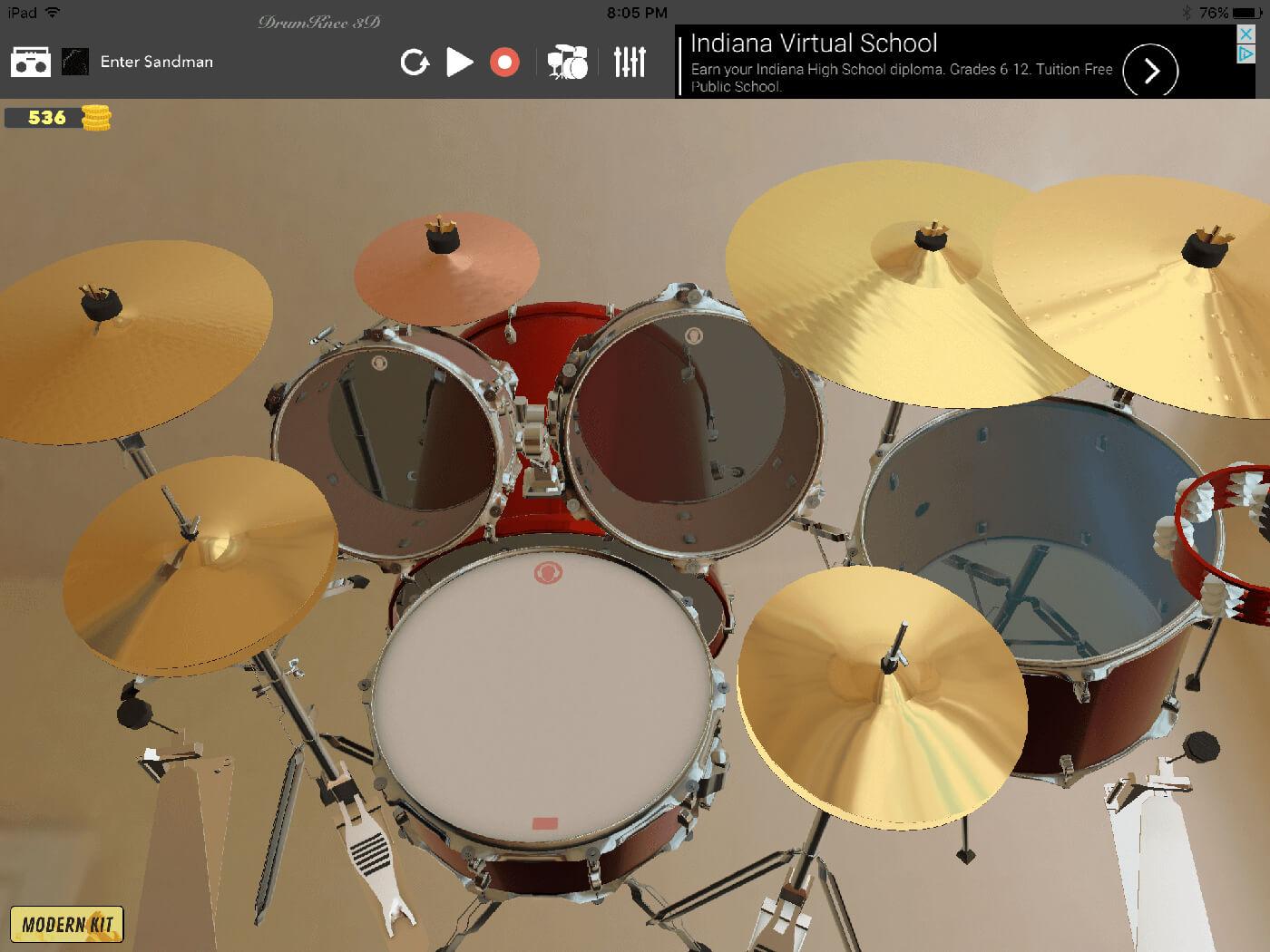 Paulo Ribeiro - DrumKnee 3D Drums (iOS & Android)