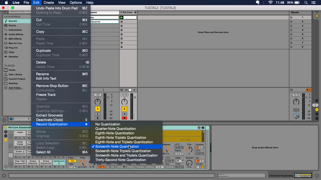 Ableton Live Tutorial: Beginning a Live Project With Drums