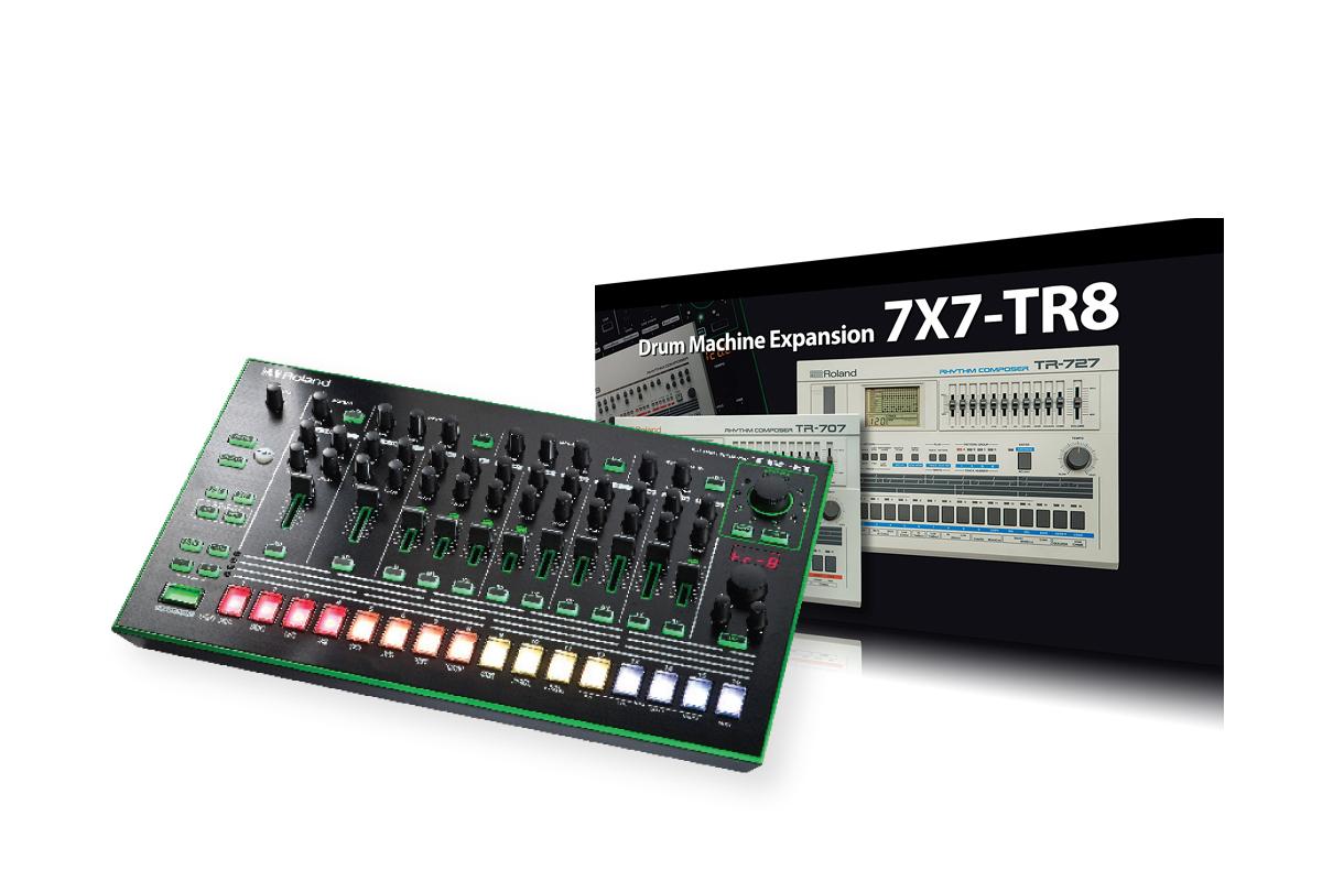 roland aira 7x7 tr 8 drum machine expansion review musictech. Black Bedroom Furniture Sets. Home Design Ideas
