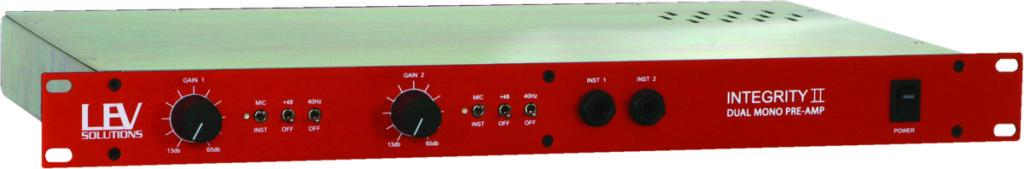 LEV Solutions Integrity II Microphone Preamplifier - MusicTech