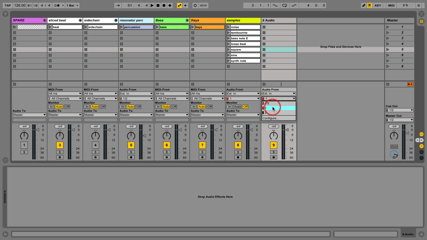 new mixer routing ableton. Black Bedroom Furniture Sets. Home Design Ideas