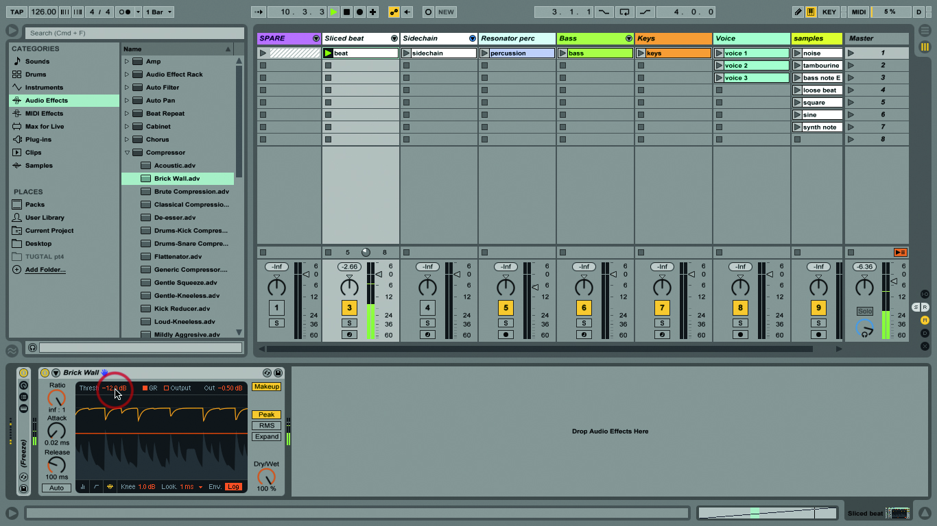 how to add sections to ableton