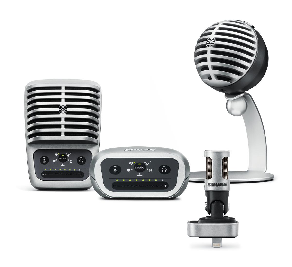shure microphones website
