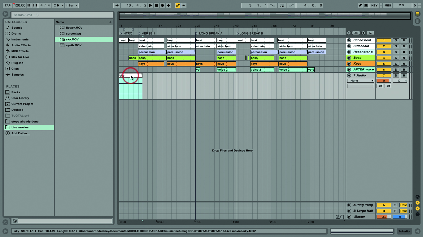 how to exit full screen ableton live