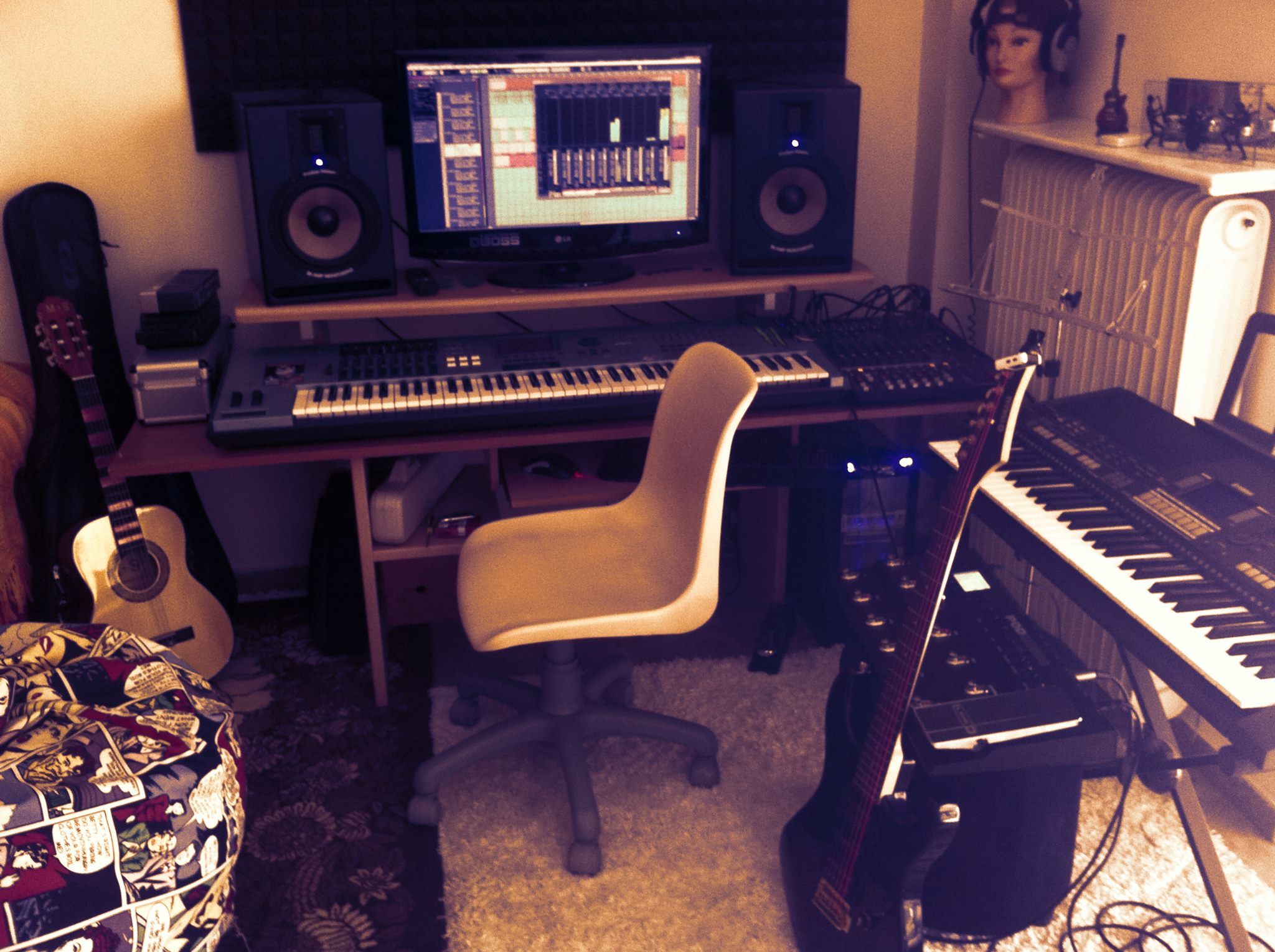 Long Play Sent Us This Great Home Studio Shot Not Sure About That Chair Though