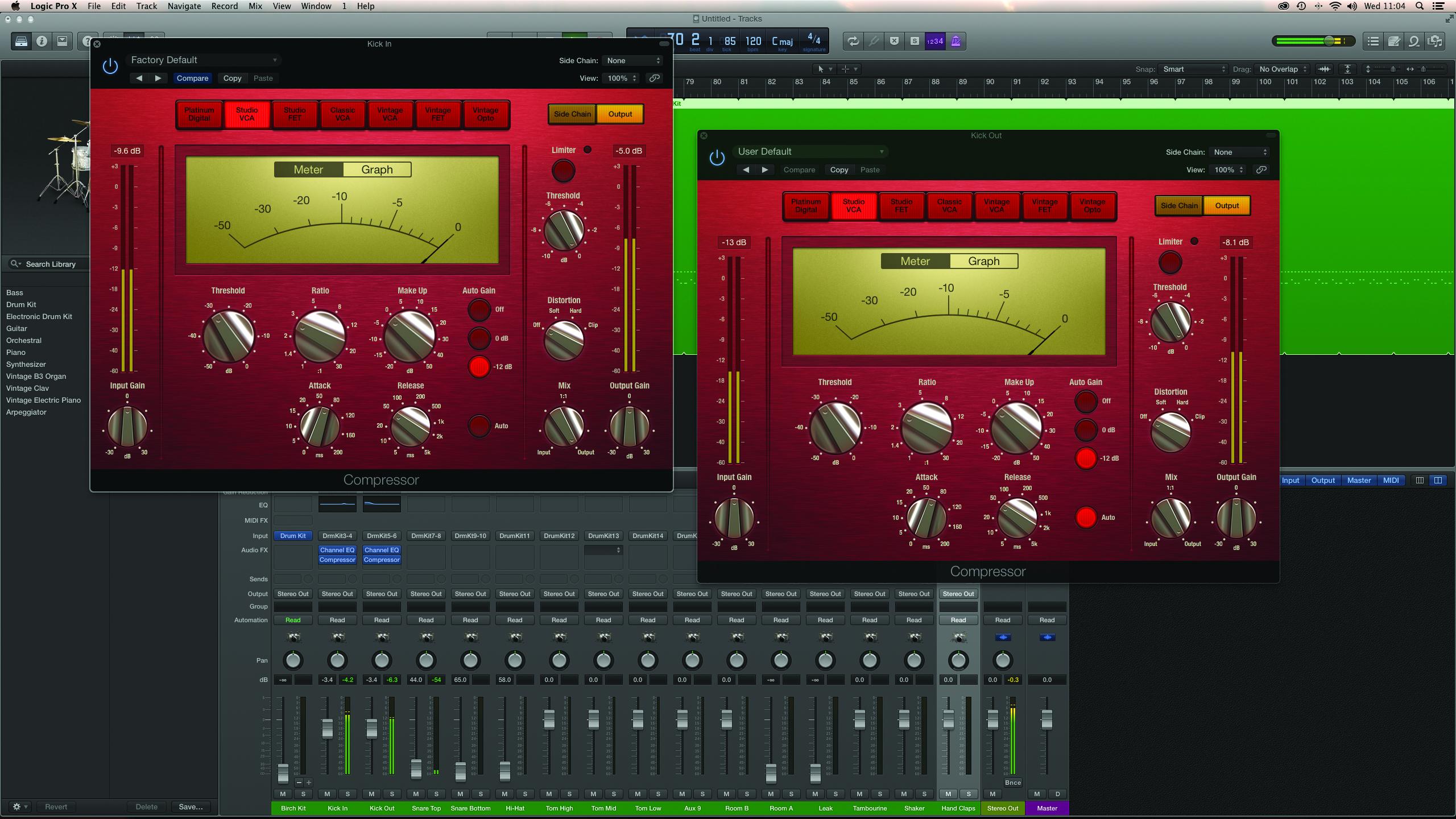 Logic Tutorial: Mixing Drums With Drum Kit Designer