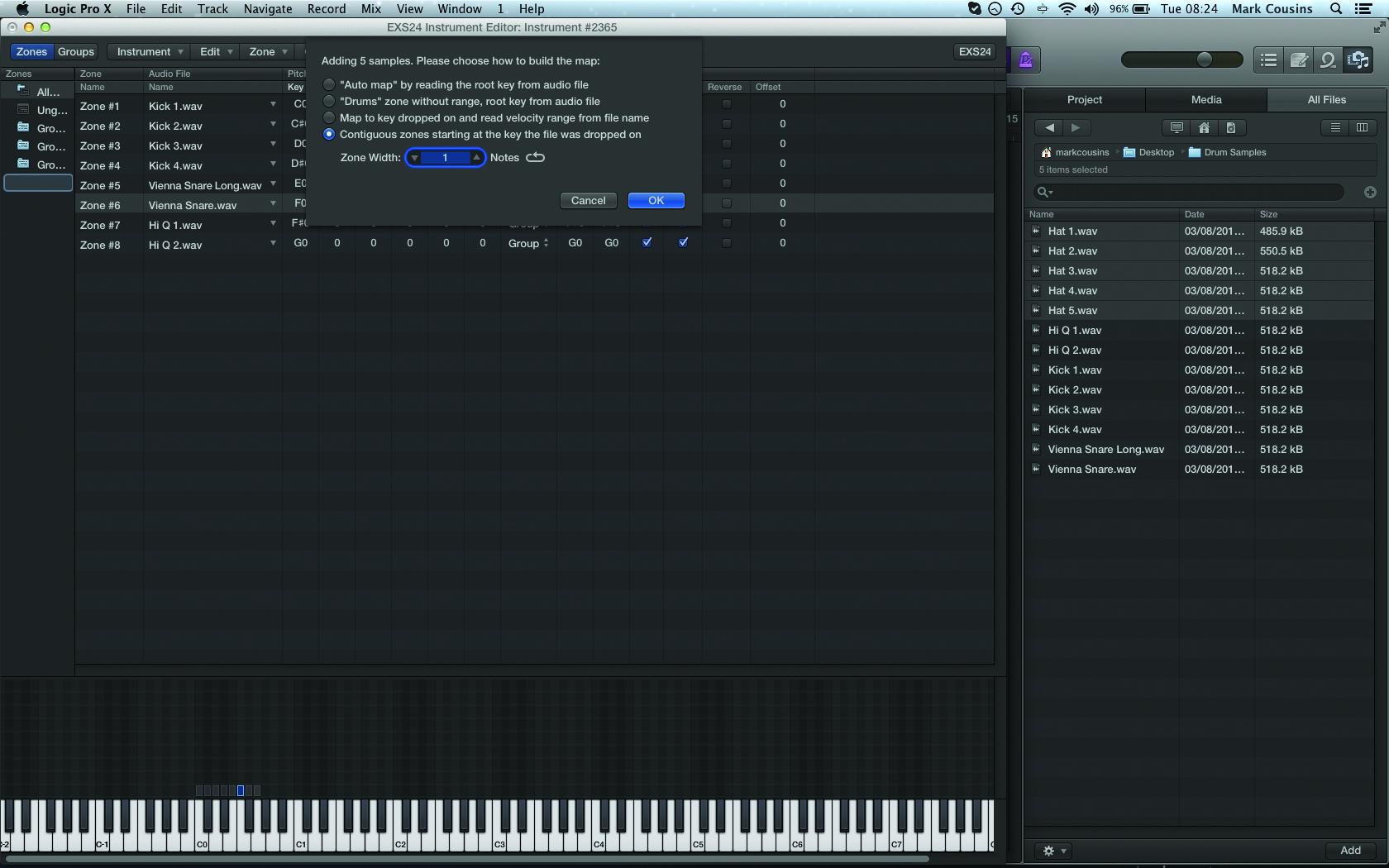 EXS24 Sample Mapping In Logic Pro X | MusicTech.net