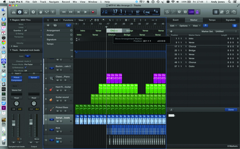 Logic Pro X Final Arrangement