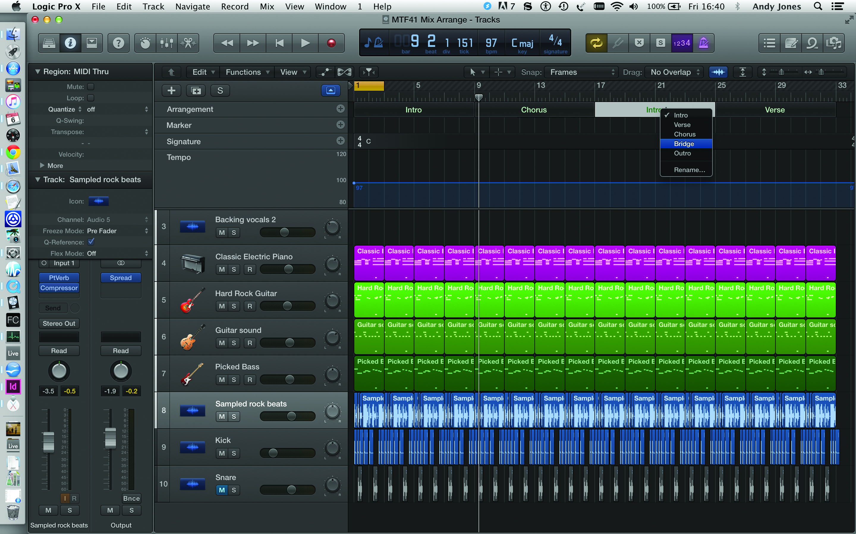 Logic Pro X Arranging Step Five