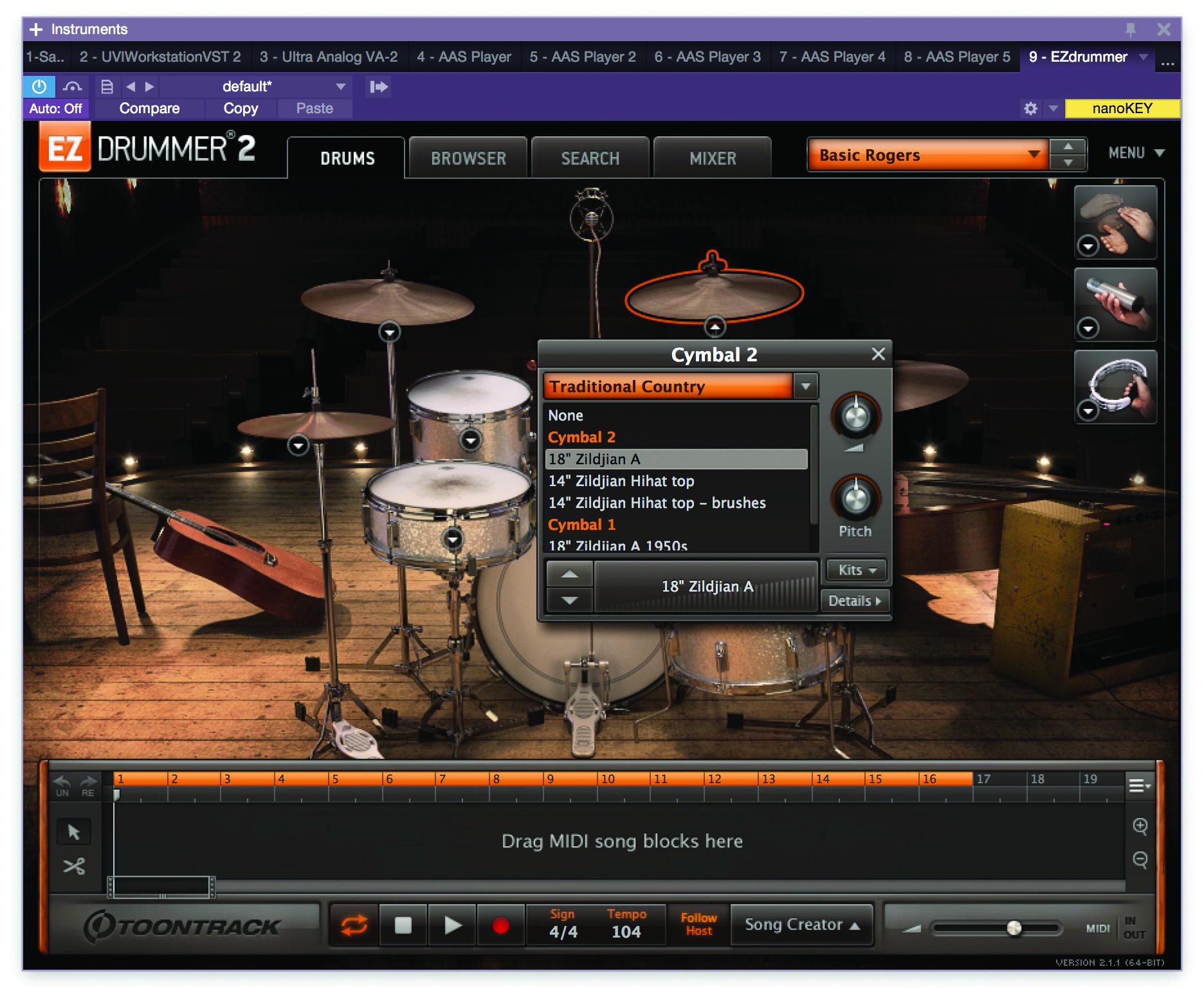 superior drummer kits