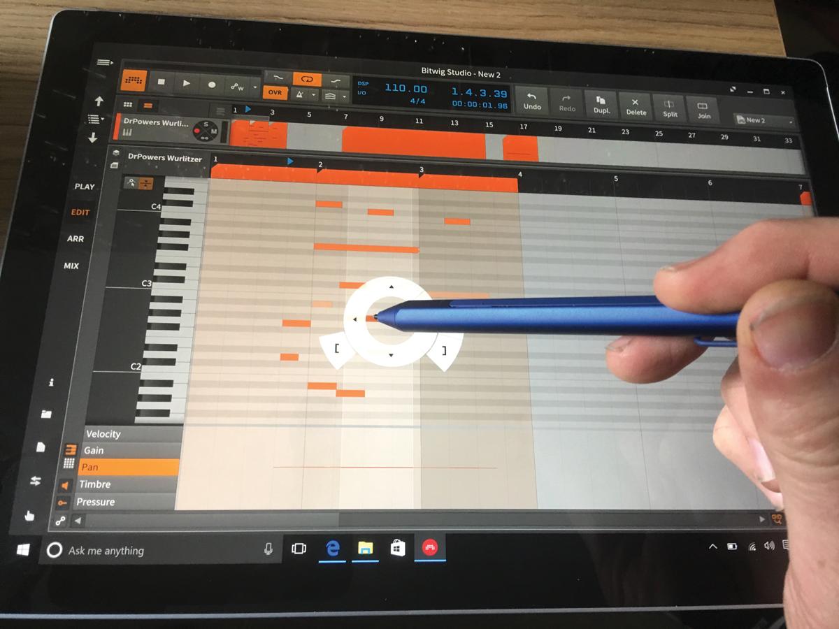 Surface Pro 4 Bitwig Stylus