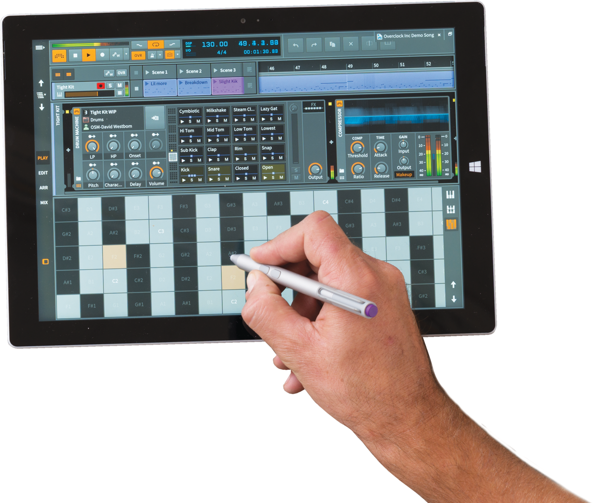 Surface Pro 4 Bitwig