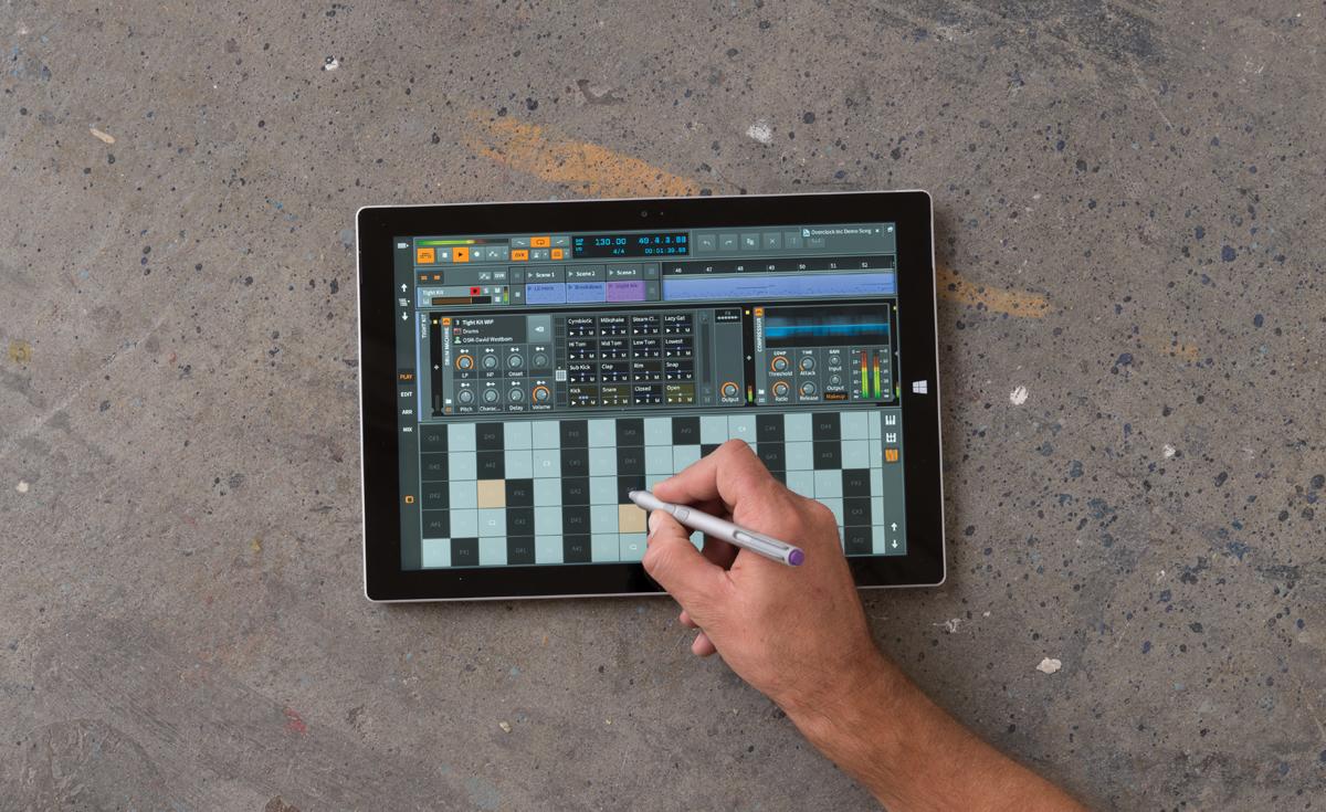 Surface Pro 4 v Bitwig