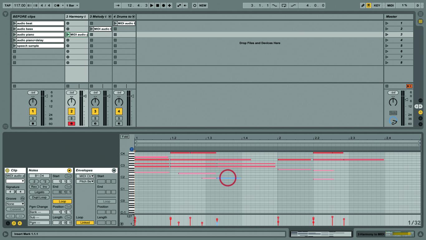 Ableton Live Tutorial Audio To Midi Conversion