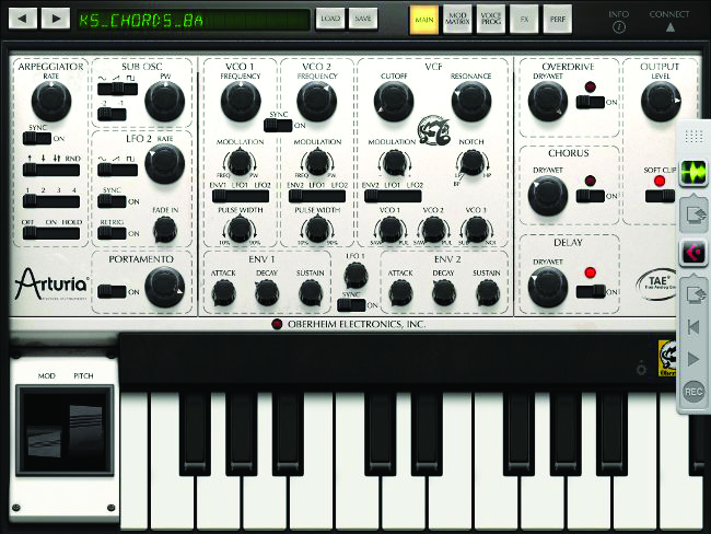 mobile synth - Arturia iSEM