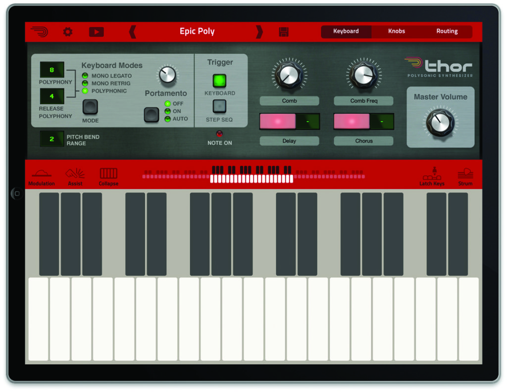 mobile synths - Propellerhead Thor