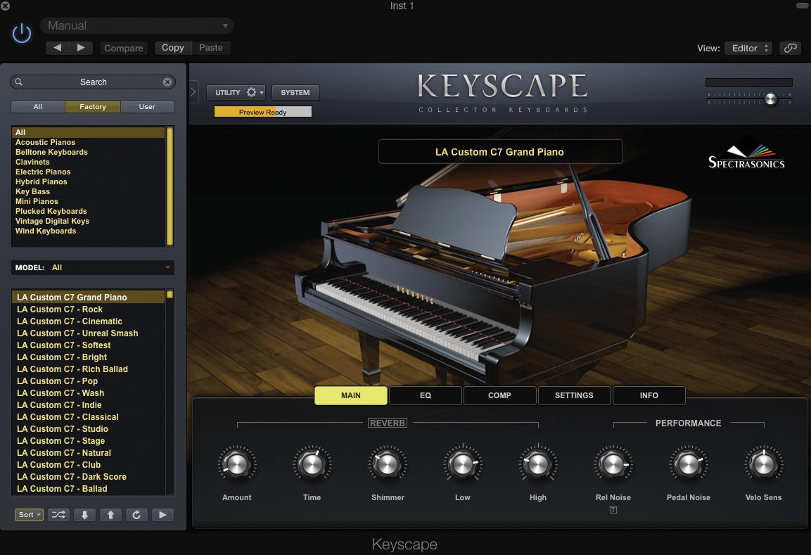 Keyscape GUI