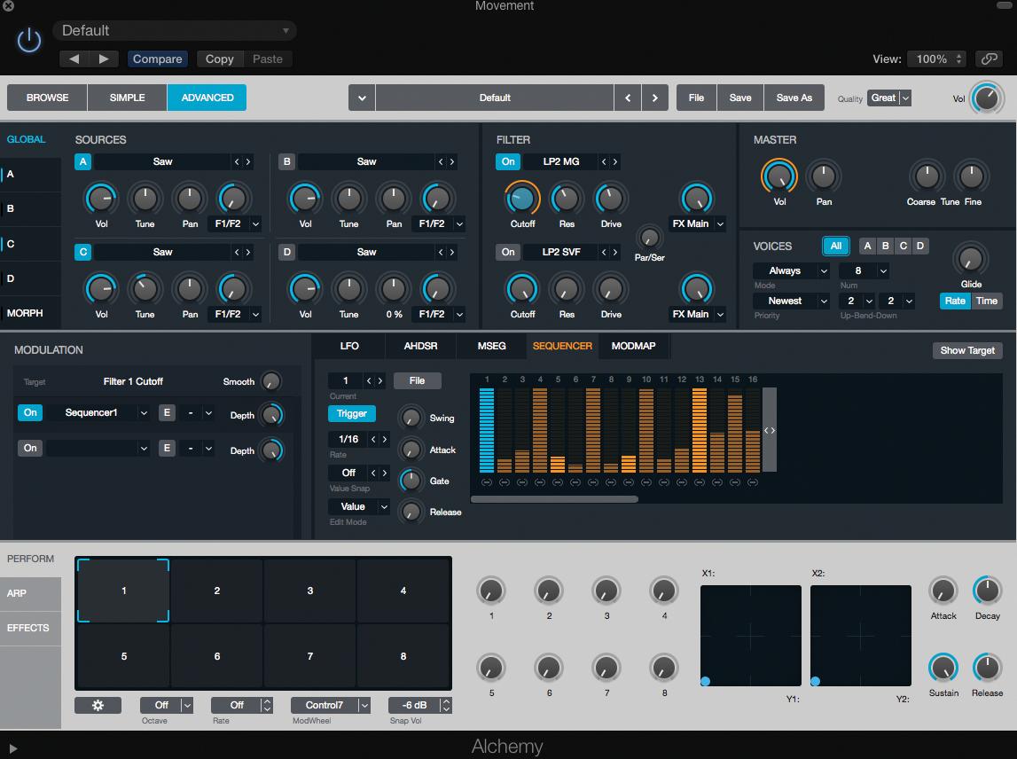 Logic Pro X Tutorial - Movement Sounds In Alchemy