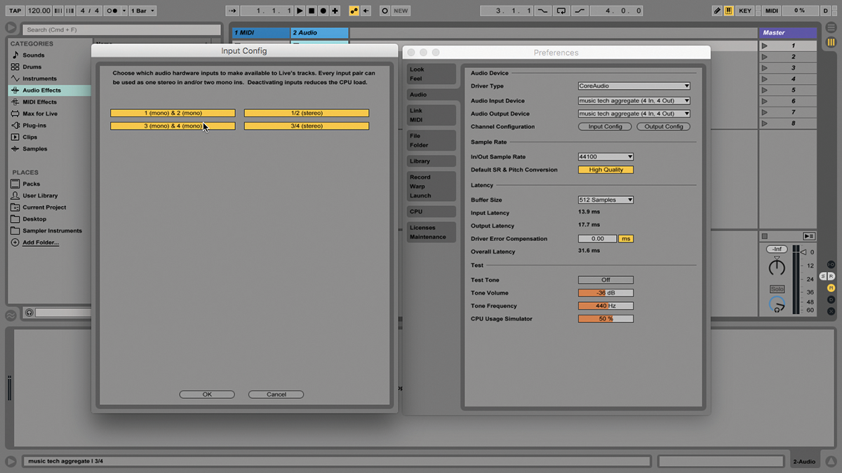 ableton live tutorial audio ins and outs beef them up. Black Bedroom Furniture Sets. Home Design Ideas