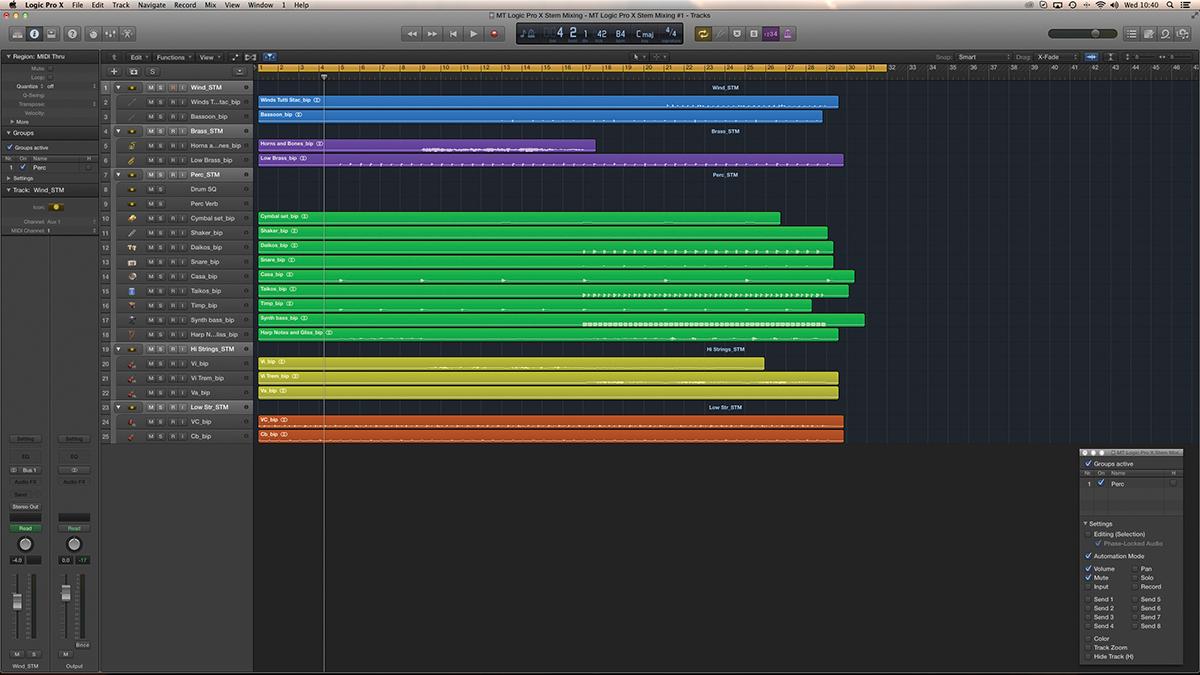 Logic Pro X Stem Mixing 1