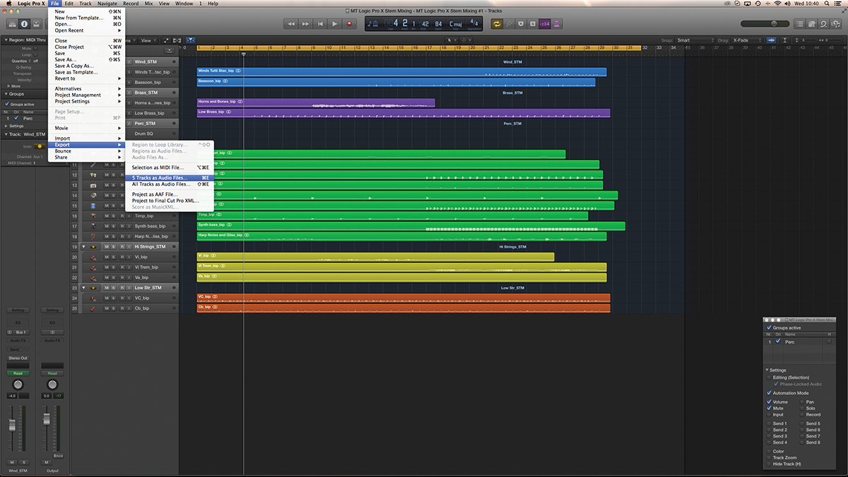Logic Pro X Tutorial - Stem Mixing - A Step-by-Step Guide