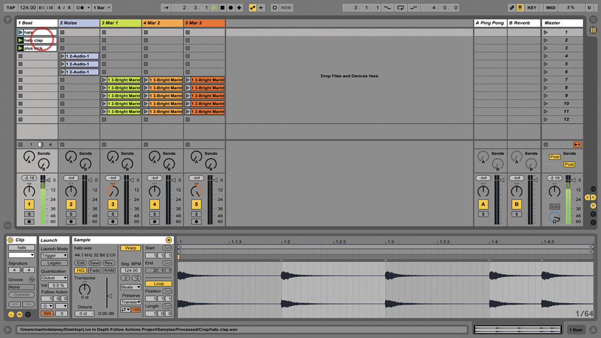 Folllow Actions Ableton Live