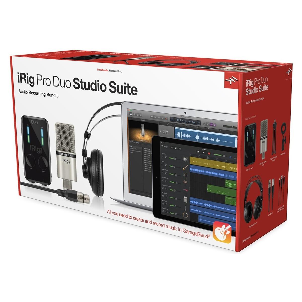Ik multimedia release irig pro duo suite bundles for Salon multimedia