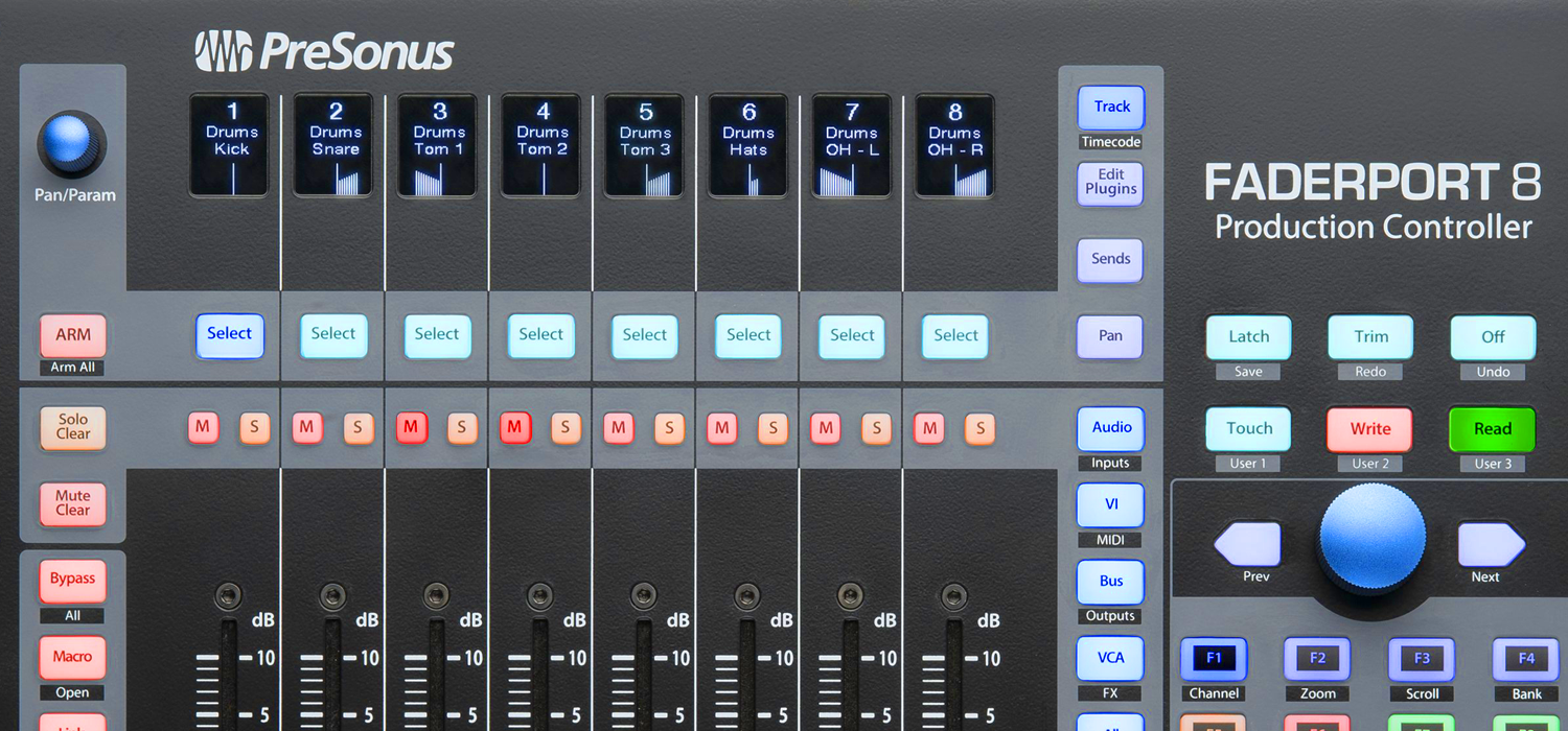 presonus faderport8 mix production controller now available. Black Bedroom Furniture Sets. Home Design Ideas