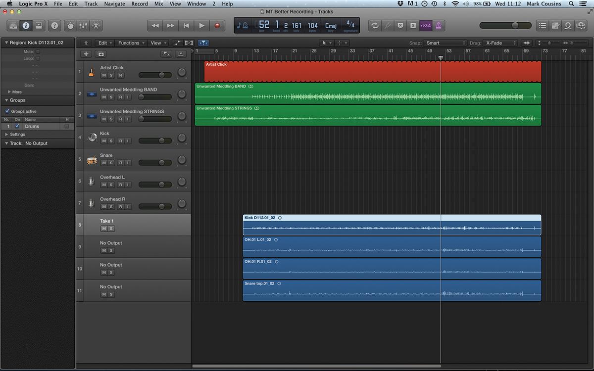 Recording Workflow in Logic
