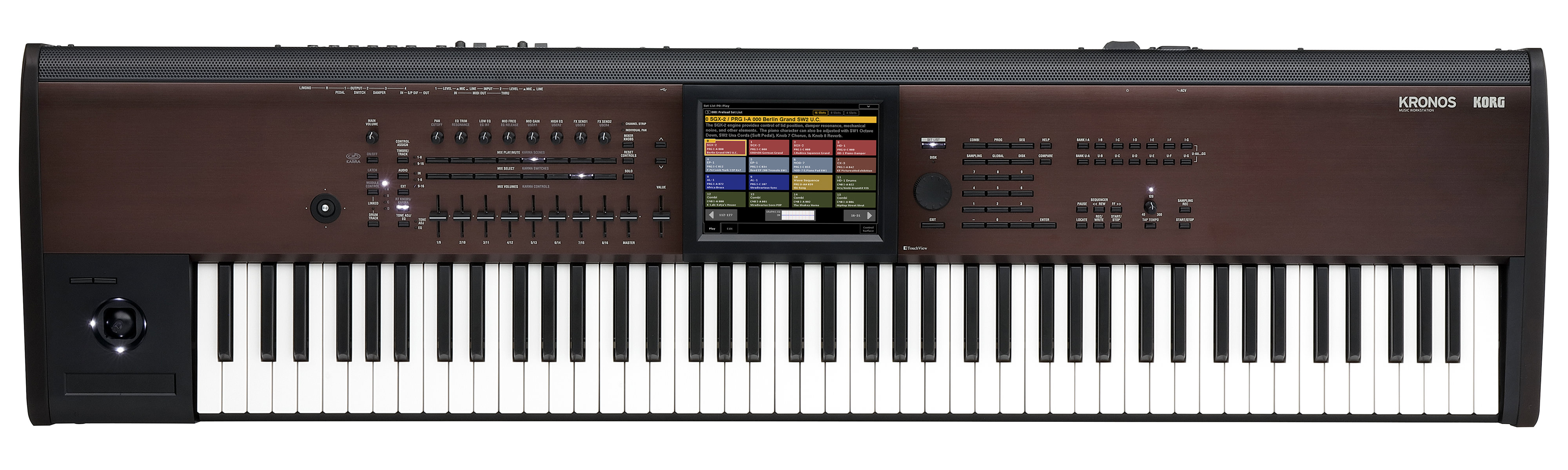 Kronos LS from Korg offers a lighter alternative with all of the power