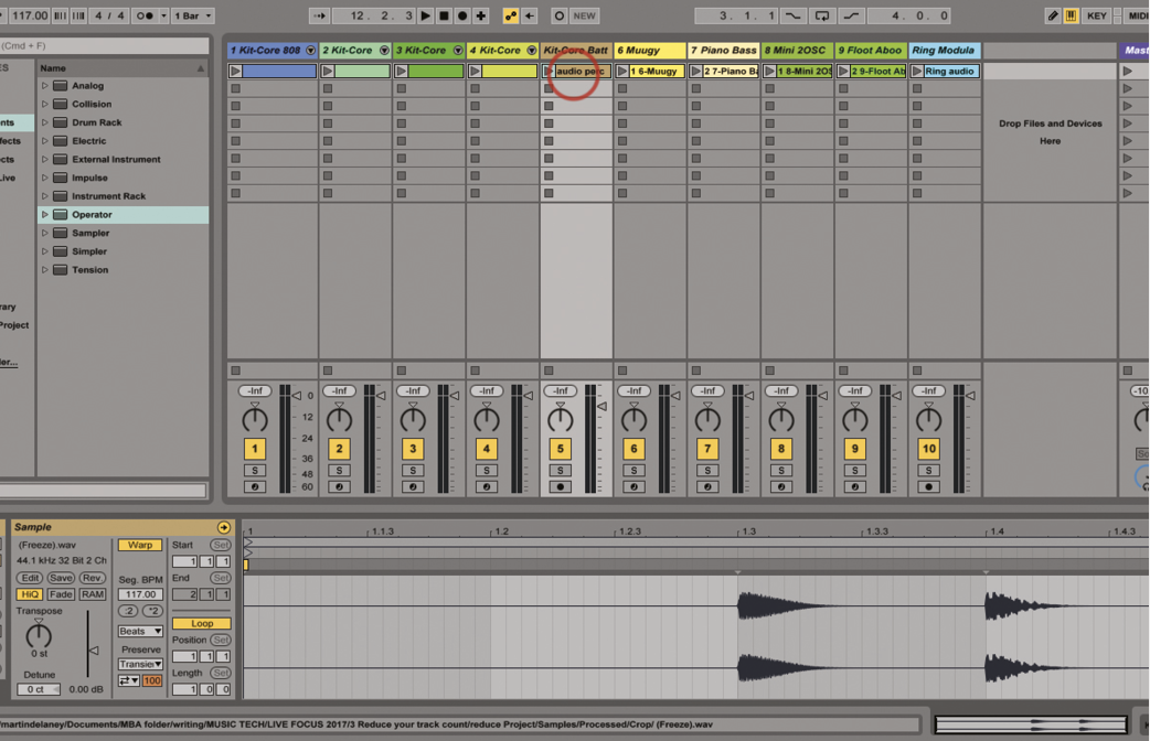 Put Your Projects On A Diet: Reduce Your Track Count in