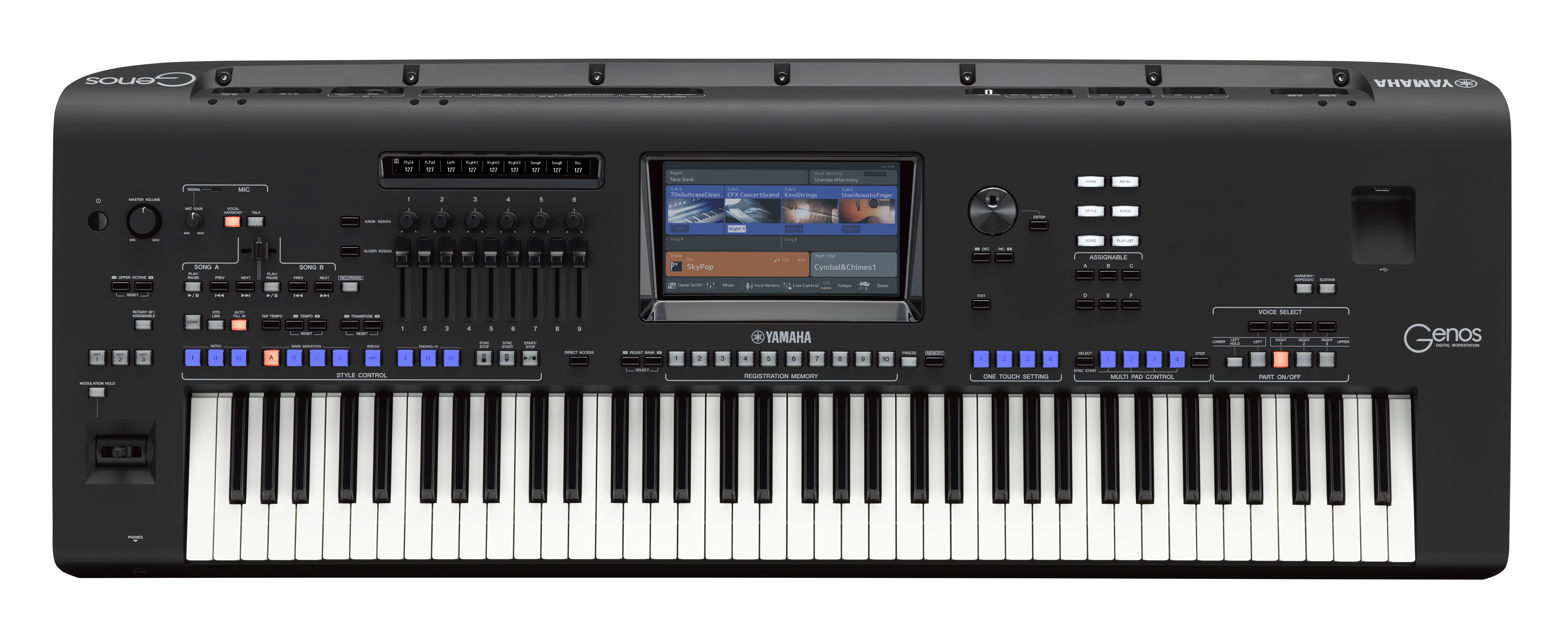 Yamaha reveals genos an innovative digital workstation for Best yamaha digital piano 2017
