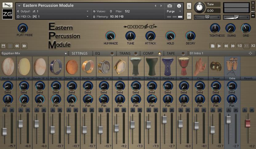 eastern percussion module