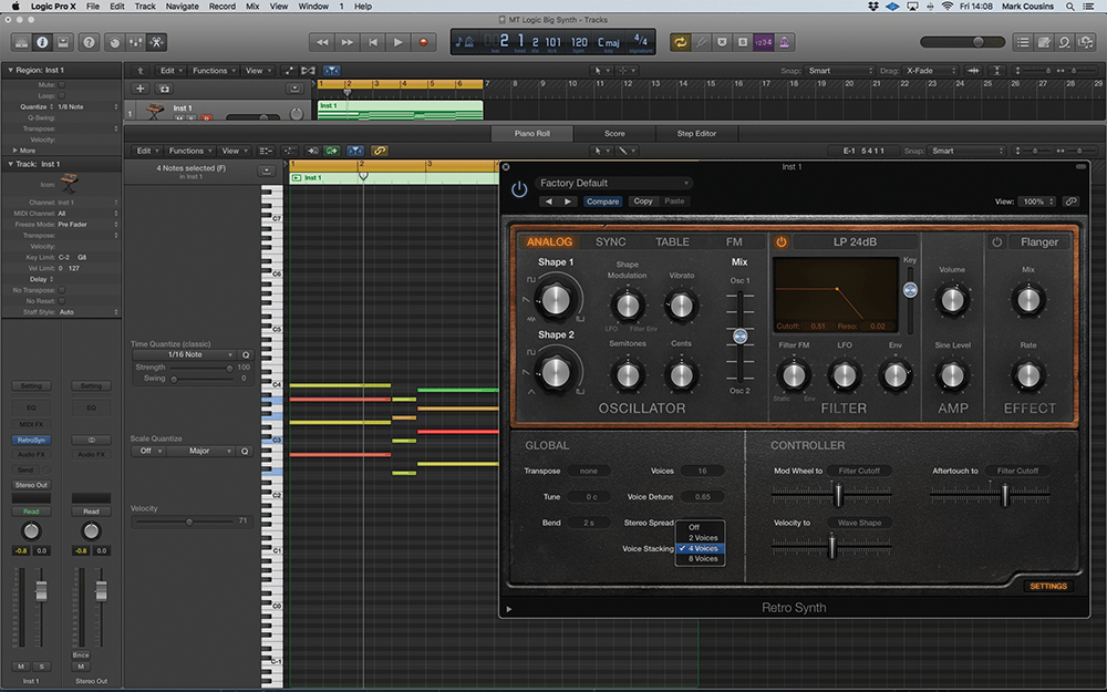 Creating Big Synths In Logic Pro X