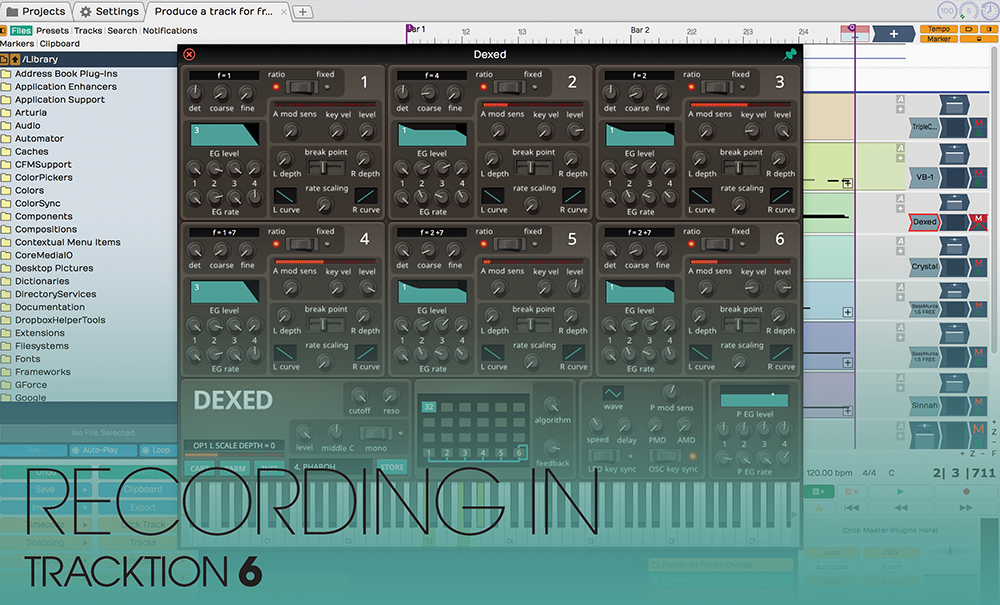 recording in tracktion 6