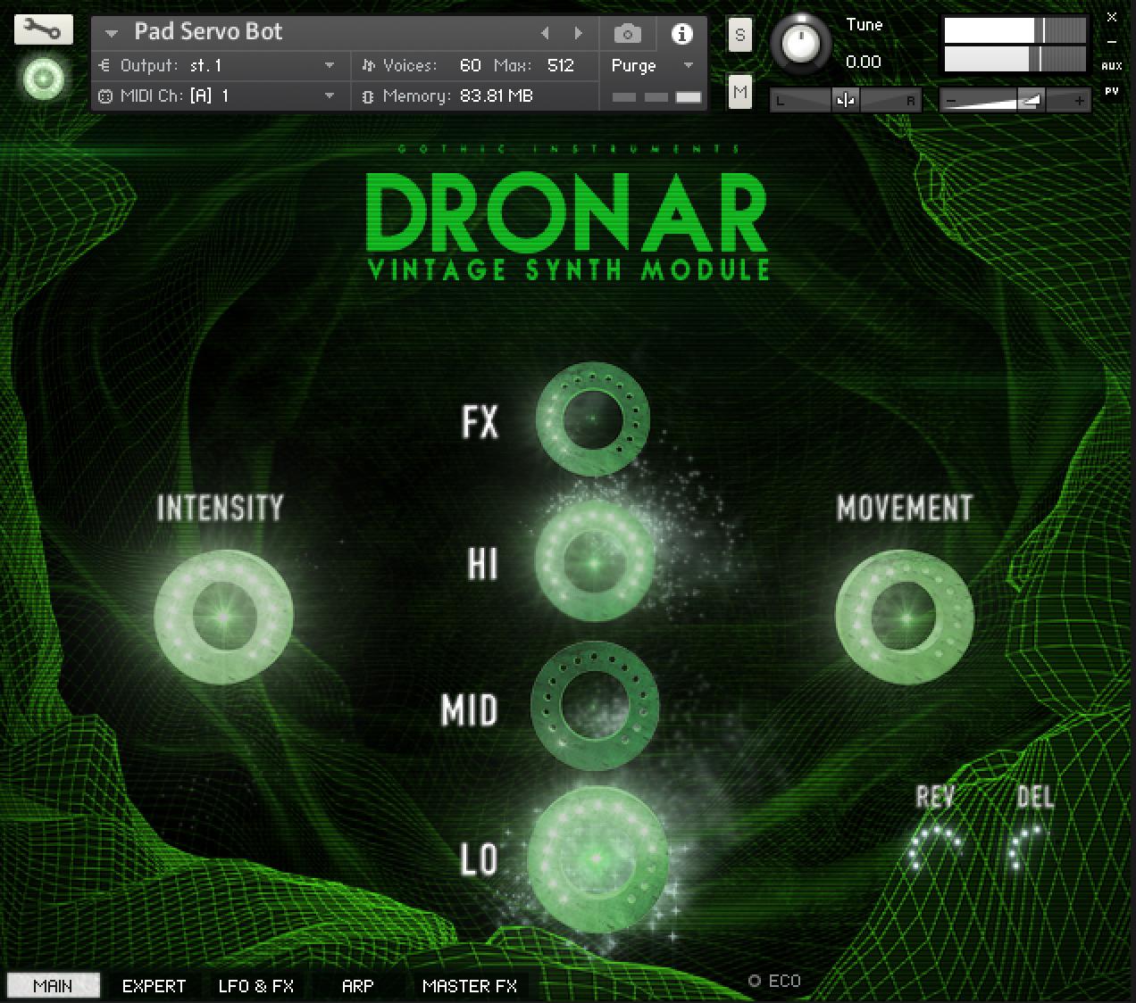dronar vintage synth module