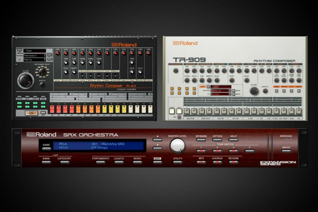 namm 2018 roland releases vst au versions of 808 909. Black Bedroom Furniture Sets. Home Design Ideas