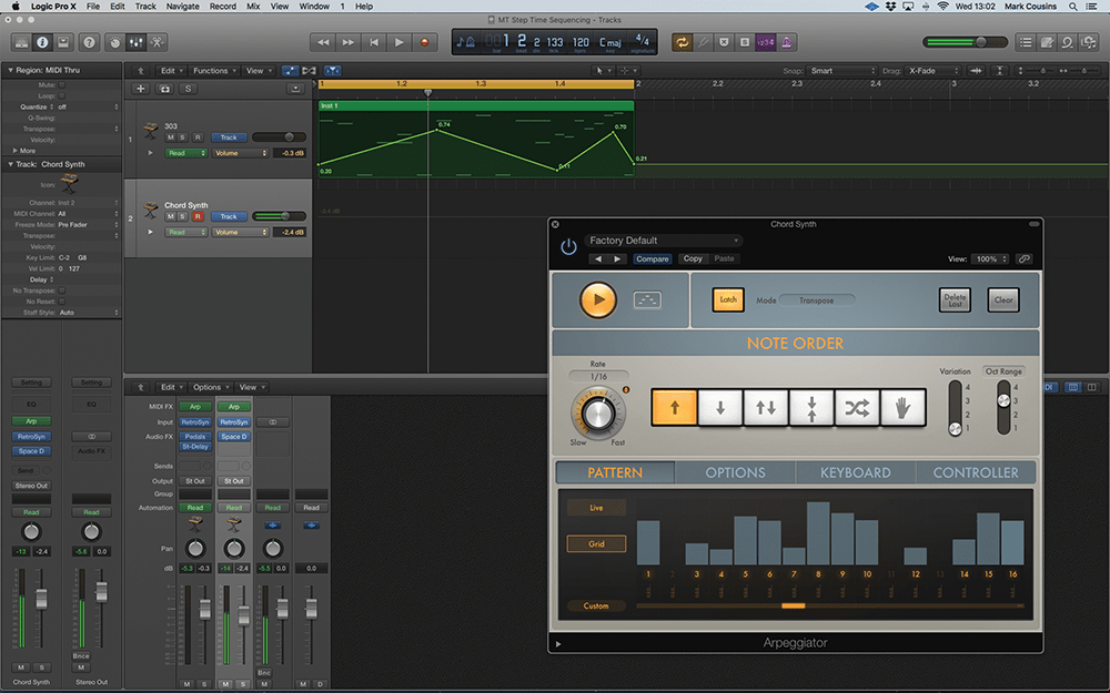 step time sequencing in logic pro x step by step (continued) Logic Pro Akai Mini classic step time sequencers weren\u0027t always used to control pitch, but could be applied to parameters like cutoff the arpeggiator midi effect\u0027s \u0027extended\u0027