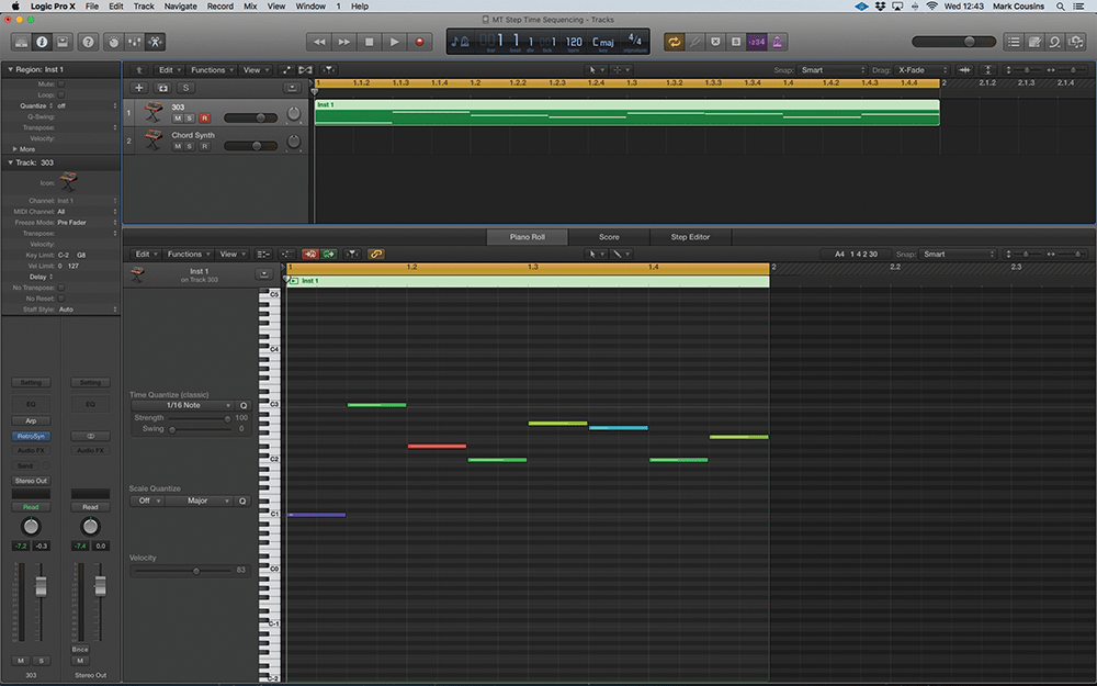 step time sequencing in logic pro x enhance your electronic backbone Logic Pro Akai Mini now let\u0027s create a basic step time sequencer open the piano roll editor and engage the midi in at the top of the window playing notes on your midi