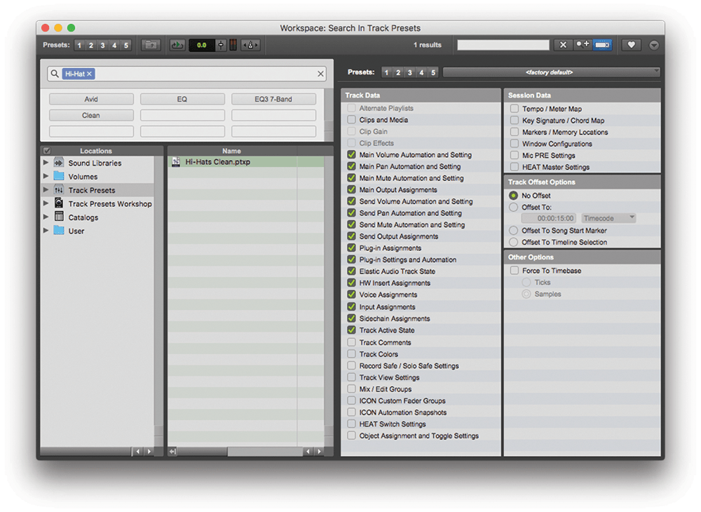 Speed up your workflow using Track Presets in Pro Tools 2018