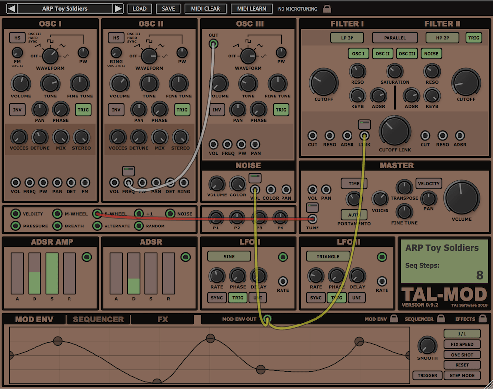 TAL-Mod is a virtual analog synth with