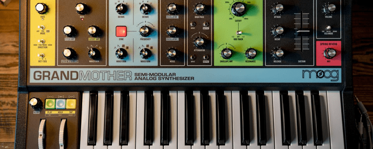 check out moog 39 s retro styled semi modular grandmother synth. Black Bedroom Furniture Sets. Home Design Ideas